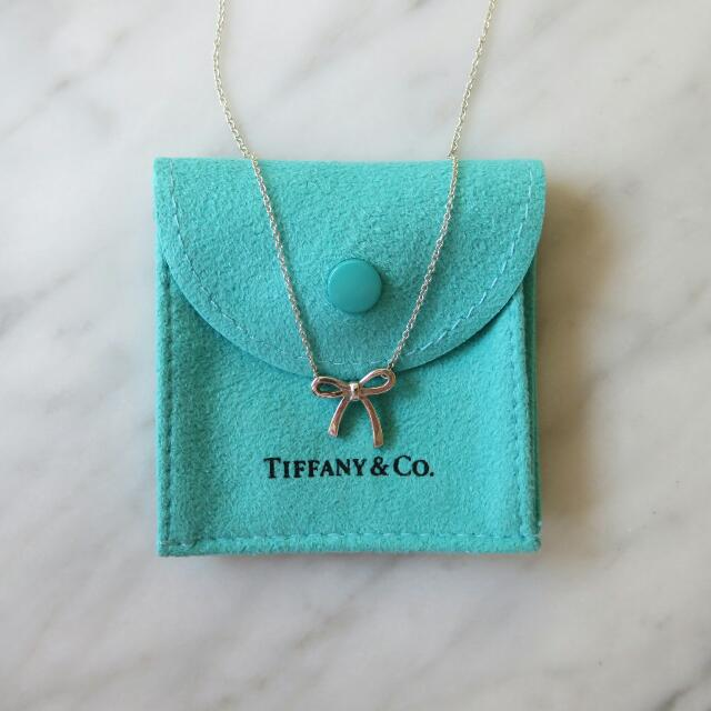 Tiffany & Co Mini Silver Bow Pendant