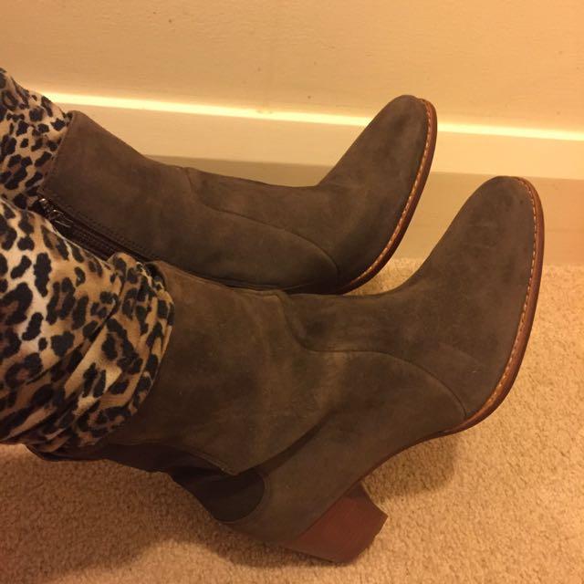 Timberland waterproof Point Toe Heel Boots