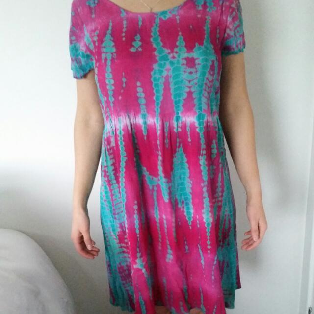 Tree Of Life Tye Dye Dress Size M