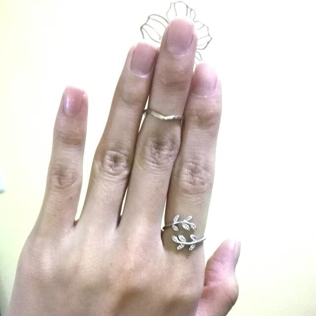 全新百搭金色v指環*無分尺寸