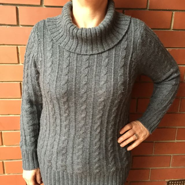 Wool Blend Charcoal Winter Knit