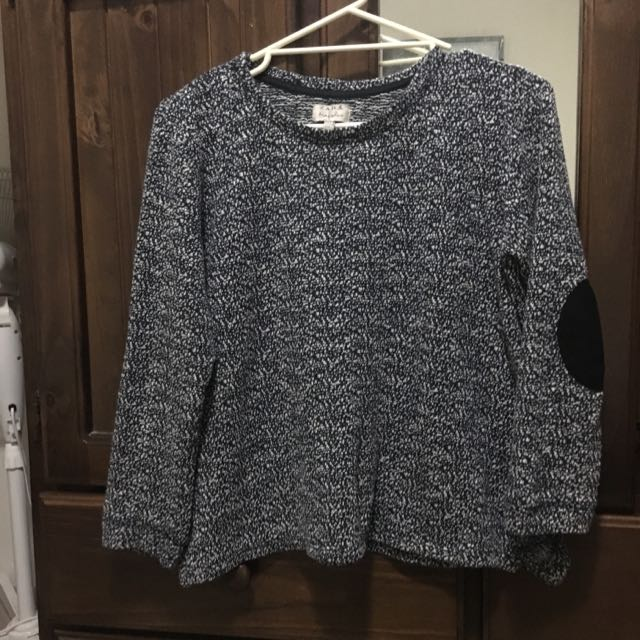 Zara Jumper With Elbow Patches