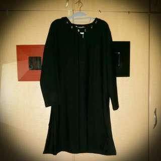 Plus Size Side Split Tunic Dress 3XL