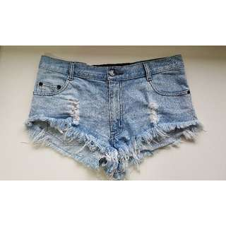 One Teaspoon Denim Blue Shorts