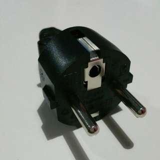 Plug 3-core Type C, Europe, South America, Asia
