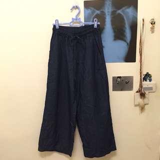 全新單寧寬褲