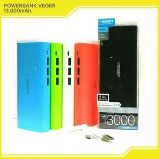 Powerbank Veger ori 13.000 mAh
