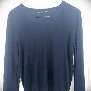 Navy Zara Man Silk Cotton Size 40
