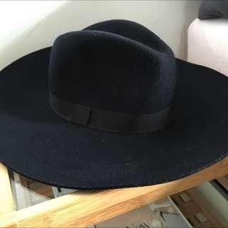 AGENT NINETY NINE Elsie Navy Felt Wide Brimmed Hat