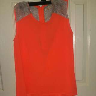 Flowy Orange Top