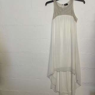 *Reduced - high Low - Dotti White Dress