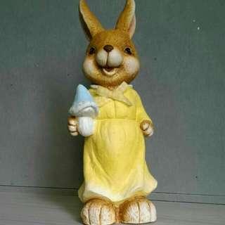陶瓷 彼得兔娃娃(女) 鄉村風 園藝裝飾