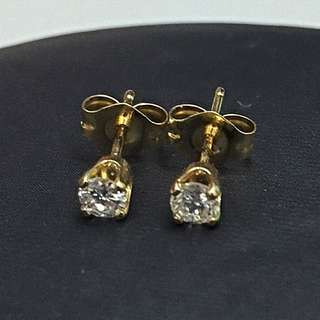 Real Gold Diamond Earstud
