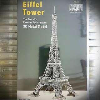 3d Metal Model- Eiffel Tower