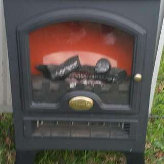 Small Wood Fire Effect Heater