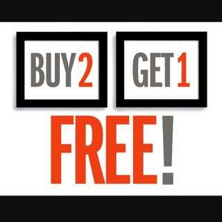 BUY 2 GET 1 FREE!!!!