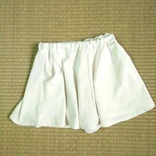 白色 褲裙