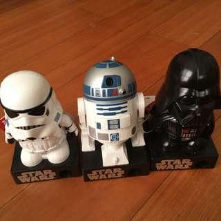3 Sets Star Wars Miniature ( Bersuara ) 10 Cm Tall