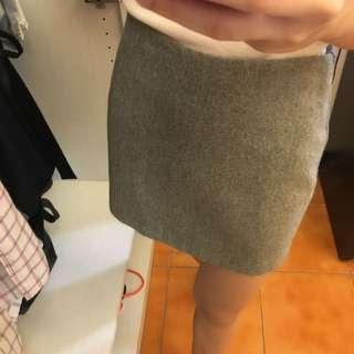OL灰色毛呢包裙
