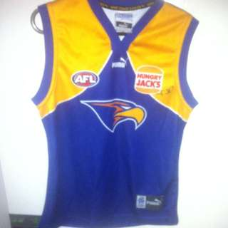Signed West Coast Eagles Guernsey Size 14