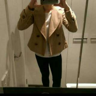 Forever New Tan Coat. Size S