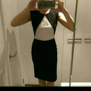 Oxford Black And White Dress. Size S