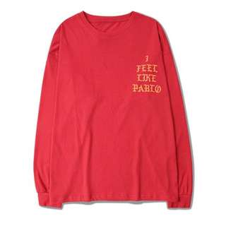 Free Ship Pablo Kanye West Long Sleeve Tshirts