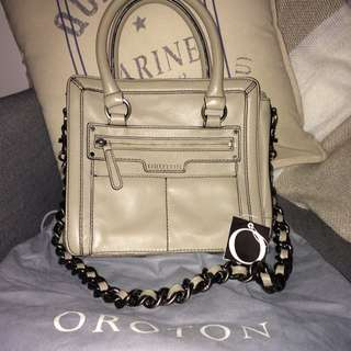 Oroton Dynasty Leather Handbag