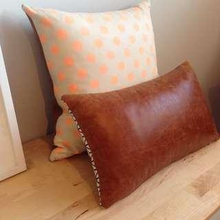 Amazing Leather Hide Cushions