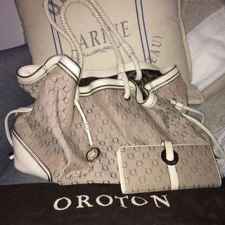 Oroton Tote And Matching Wallet