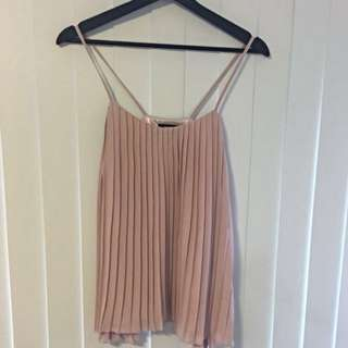 PLEATED BLUSH CAMI SIZE 6