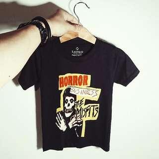 🚚 兒童/幼兒 樂團龐克搖滾短袖T恤 MISFITS