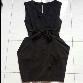 Authentic Miss Selfridge Ribbon Black Dress