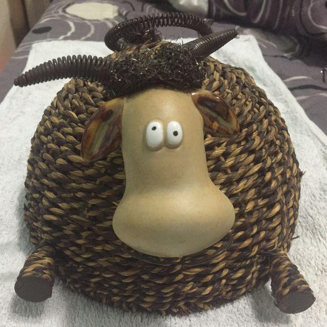 【餐罩】牛牛造型籐編餐罩/菜罩