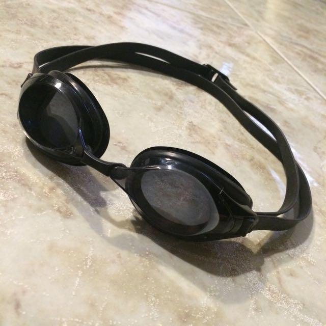 【歐都納 ATUNAS】SWANS 成人近視泳鏡.雙眼度數550._黑