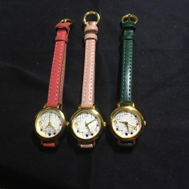 日本製 彩盤造型手錶