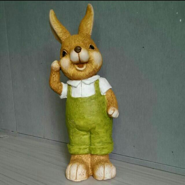 陶瓷 彼得兔娃娃(男) 鄉村風 園藝裝飾