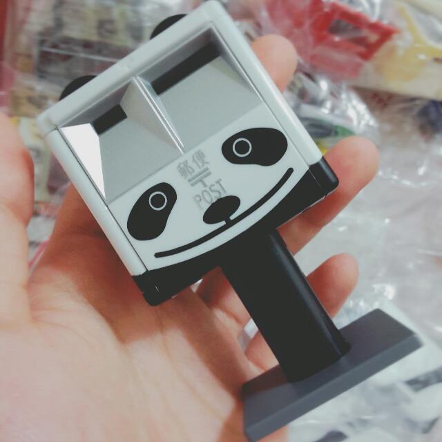 熊貓郵筒+安全帽 一起賣 扭蛋 日本 郵便局 轉蛋