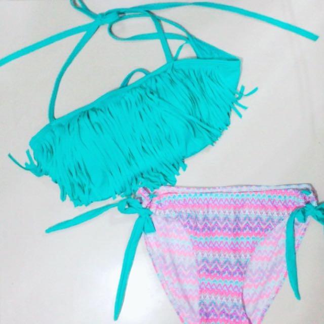 比基尼   泳衣    圖騰    Tiffiny 綠       全新 小胸救星 炎炎夏日就該買比基尼👙