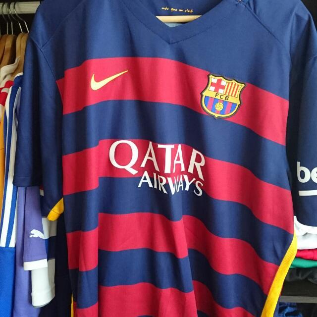 buy online 90cba 8becc Barcelona Home Jersey w Rakitic 4 2XL