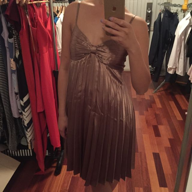 🌟Bardot Dress Bronze Colour