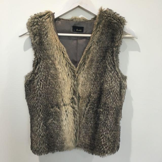 'Bardot' Faux Fur Vest