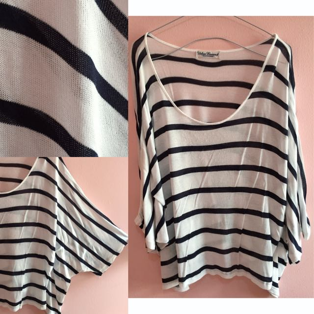 Batwing Stripes Top