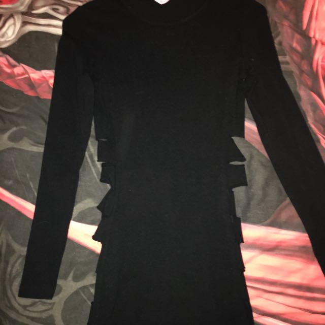 -ON HOLD- Black Long Sleeve Dress