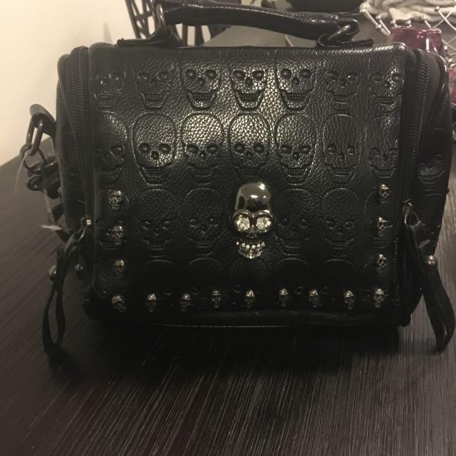 Black Skull Handbag