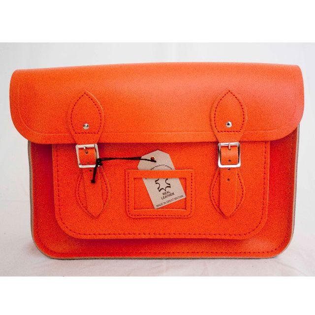 "BRAND NEW - AUTHENTIC 13"" Limited edition sunset orange satchel"