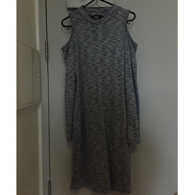 Dotti Tight Dress w Off Shoulder Slits