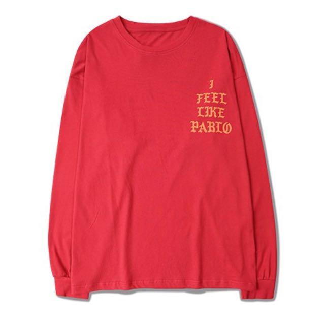 Free Ship Pablo Kanye West Long Sleeve Tshirts