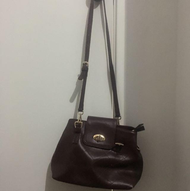 Genuine Brown Leather Bag