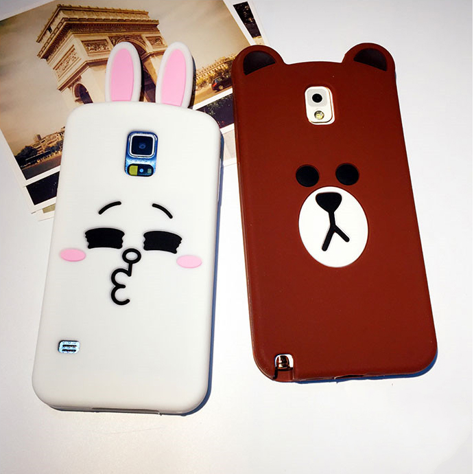 competitive price 8e09e faa91 [In Stock] Line Friends Brown Bear Phone Case Casing Cover For Samsung Note4
